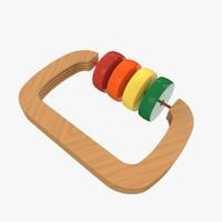 rattle toy 3d obj
