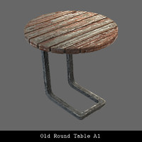 old table 3d model