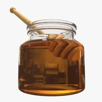 3d honey pot model