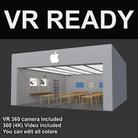 apple store vr 3d max