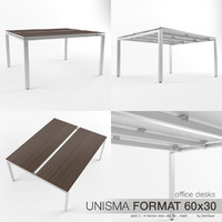 Office Desks Unisma Format 60x30 (pack2)