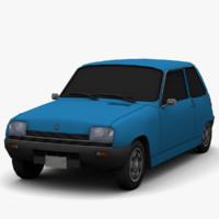 3d model renault 5 - color