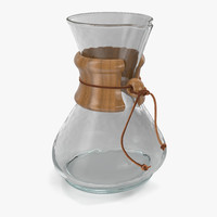 3d glass coffee carafe model