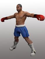 3d model of black boxer