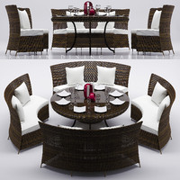 RATTAN DINNING TABLE SET