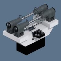 3d model blinking tubes function