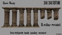 3d model pillar