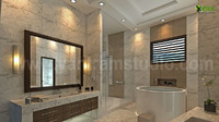 3D Interior Design Rendering of Modern Bathroom