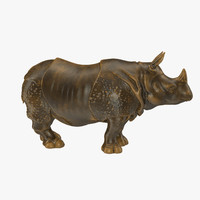 rhino statue 3d 3ds