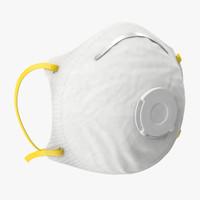 3d respirator mask model