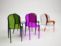 kartell thalya chair 3d model
