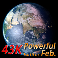 3d model of powerful earth february