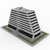 3d model of office build 37