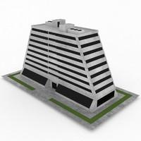 3d model of office build 37