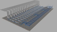 gas field line 3d model