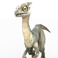 3d model little dinosaur