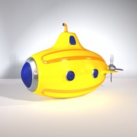 3d toy submarine model