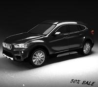 3d bmw x1 exterior highpoly model