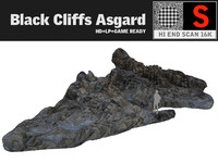 3d model black cliffs 16k