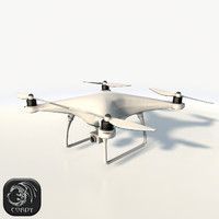 3d model dji phantom 4 quadcopter
