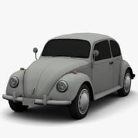 3d volkswagen beetle classic -