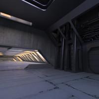 obj sci fi interior