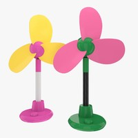 electric hand fan 3d obj