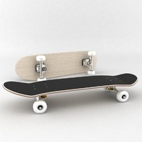 skateboard boards 3d max