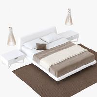 novamobili bed chocolate 3d model