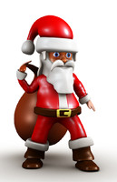 santa claus cartoon 3d ma