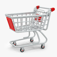 3d cartoon shopping cart model