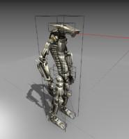 3d model robot rig animate