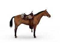 3d model war horse