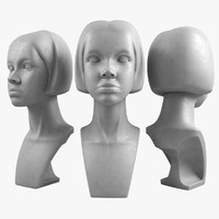 girl head mannequin 3d model