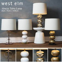 3d west elm abacus table lamp