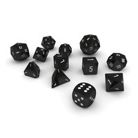 Polyhedral Dice Set - Black