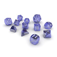 Polyhedral Dice Set - Blue Glass