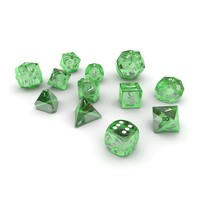 polyhedral dice set - 3d model