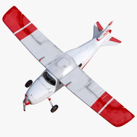 3d model seats light aircraft 2