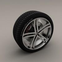 simple wheel 3d ma