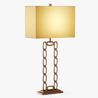3d chain table lamp