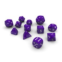 3d 3ds polyhedral dice set -