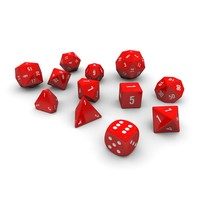 Polyhedral Dice Set - Red