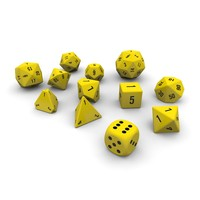 polyhedral dice set - obj