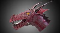 metal dragon head 3d max