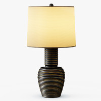 3d model ribbed copper table lamp