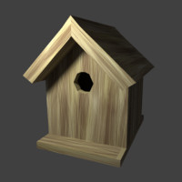 birdhouse wood 3d 3ds