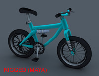 3d obj cartoon bicycle