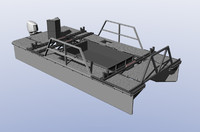 work boat catamaran 3d 3ds