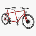 tandem bicycle 3D models